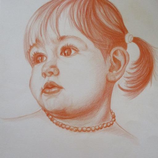 Portret deklice Lane