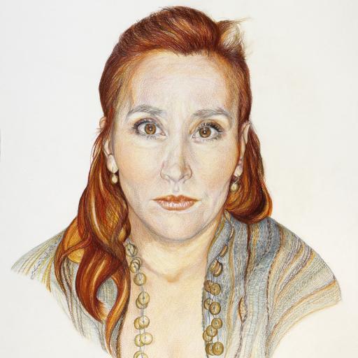 Avtoportret - Suha barvica - 50 x 70 cm - 2010