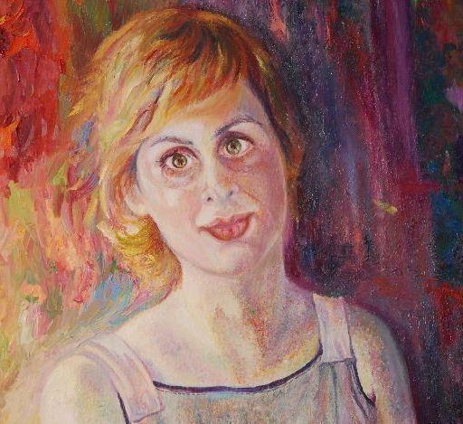 Portret Nataše Vehar - Olje na platnu - 80 x 120 cm - 2013