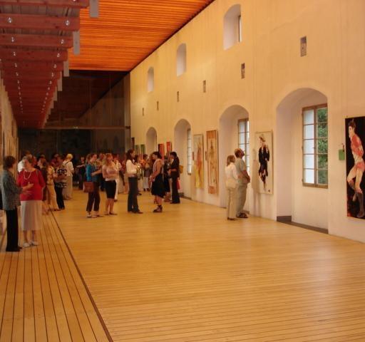 Na  otvoritvi moje razstave na Ljubljanskem gradu: Naslov Ljudstva sveta