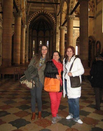 Verona, Boticelli, z Marjeto Godler in Heleno Škrbec