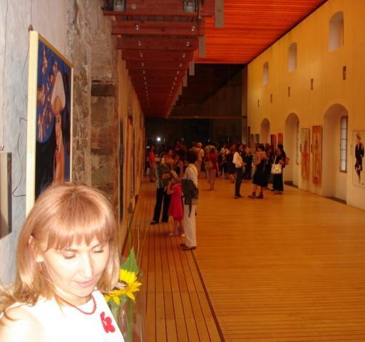 Na otvoritvi moje razstave na Ljubljanskem gradu, naslov Ljudstva sveta