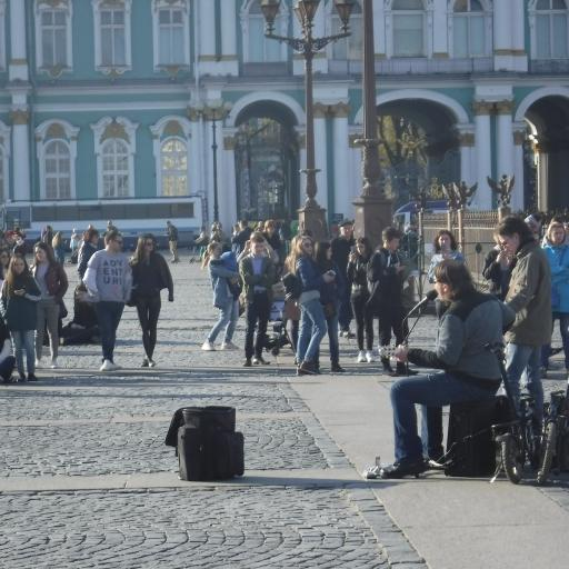 Sankt Petersburg, ulični koncert pred carsko palačo