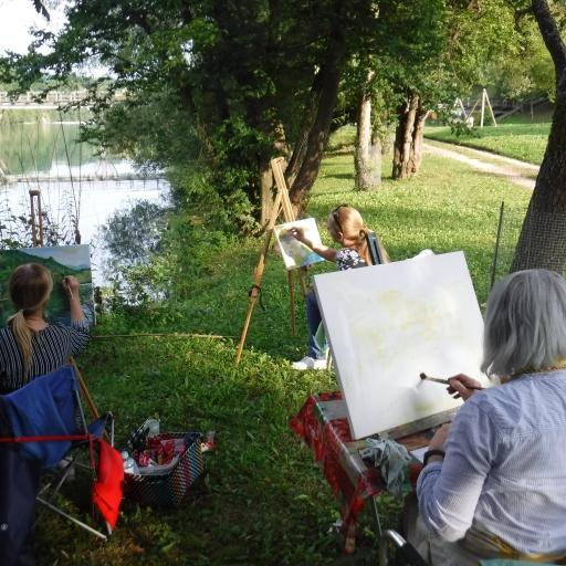 slikarska zabava v naravi