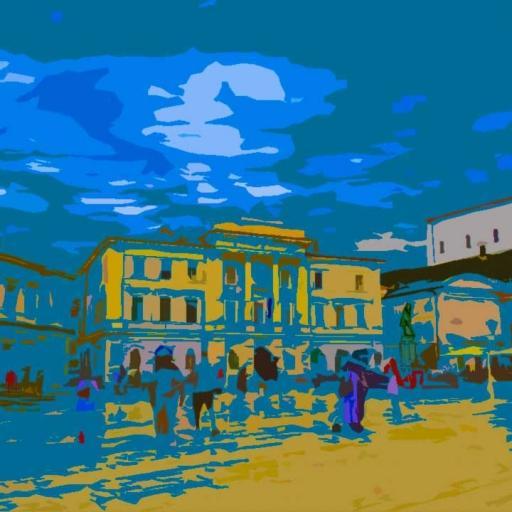 Tartini square in Piran, S love nija