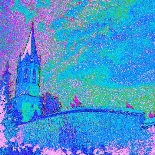 Kapitelj church in summer night