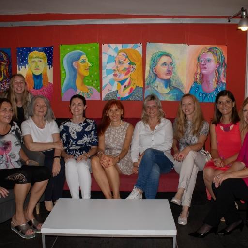 Na otvoritvi razstave mojih učencev v Založbi Goga v Novem mestu