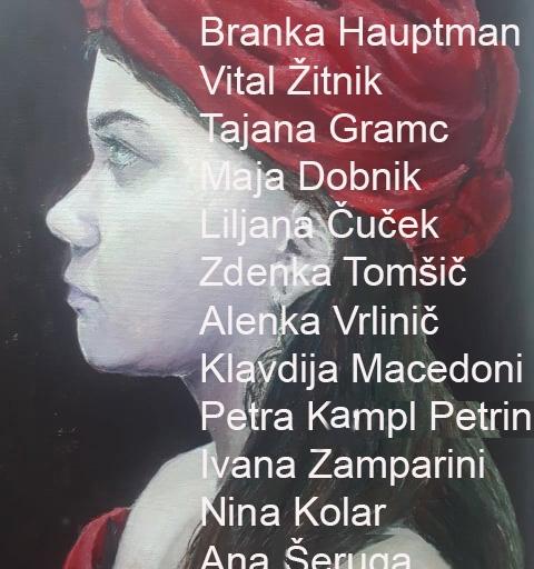Sodelujoči na zaključni razstavi ob koncu šolskega leta  2019/2020 v knjižnici Mirana Jarca v Novem mestu